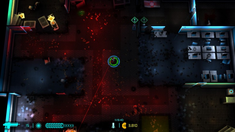 Gameplay de Neon Chrome