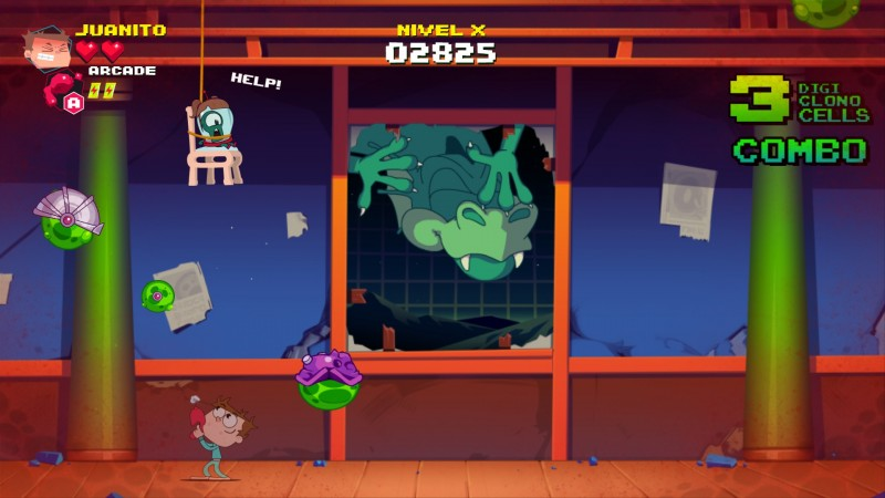 Gameplay de Juanito Arcade Mayhem