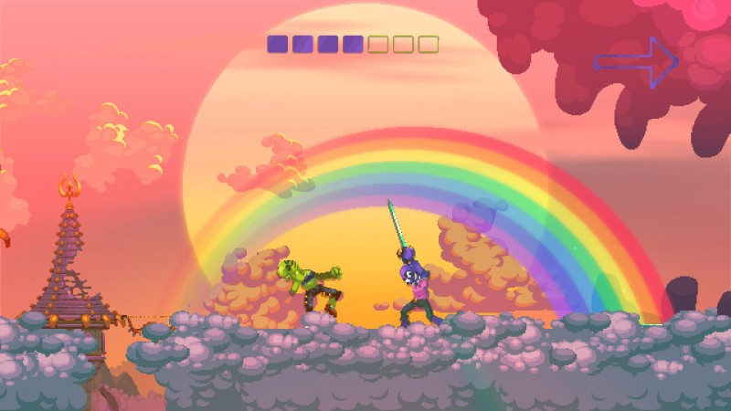 Gameplay de Nidhogg 2